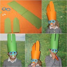 Manualidades: Máscaras de conejito para Pascua