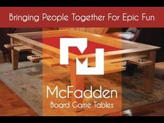 McFadden board gaming tables - YouTube