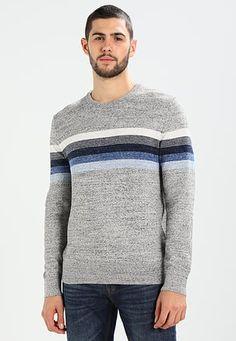 CRAZY STRIPE CREW NECK - Jumper - blue stripe