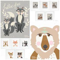 Art Prints by Bonnie Christine! http://www.maxiemakes.com/blog/2015/2/26/accessorize-with-hello-bear-art-prints-1