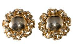 Givenchy Goldtone Earrings on OneKingsLane.com