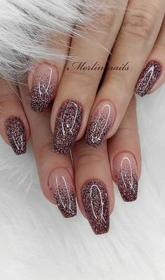 Really Cute Glitter Nail Designs! You Will Love – Page 55 of 57 – Daily Wome… Really Cute Glitter Nail Designs! You Will Love – Page 55 of 57 – Daily Women. Chunky Glitter Nails, Shiny Nails, Sparkle Nails, Glitter Nail Art, Acrylic Nail Designs Glitter, Glitter French Nails, Sparkle Nail Designs, Glitter Party, Black Nails