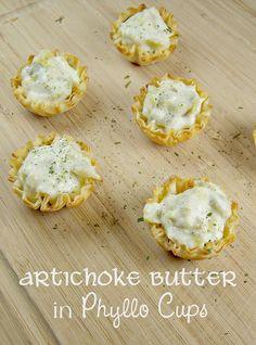 Olla-Podrida: Artichoke Butter in Phyllo Cups