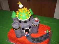 FC  Places Track And Cakes - Bowser birthday cake