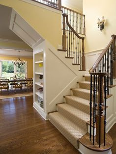 Like the bannister Staircase Wine Storage Design, Pictures, Remodel, Decor and Ideas - page 6