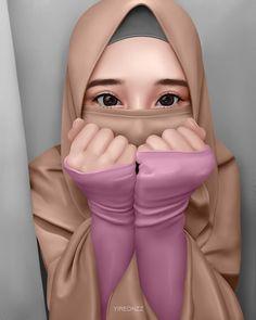 На изображении может находиться: один или несколько человек Hijabi Girl, Girl Hijab, Sweet Girls, Cute Girls, Muslim Pictures, Pink Drawing, Hijab Drawing, Islamic Cartoon, Stylish Hijab