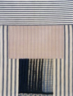 Exquisite fabric drawings by French-American artist and sculptor Louise Bourgeois. We especially love her pieces incorporating mattress ticking fabric; they remind us of our new Ticking Table Linens...