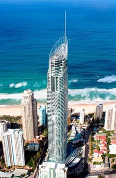 SKYPOINT OBSERVATION DECK AT Q1 BUILDING Surfers Paradise, Australia If you take its spire into account, Q1 is the tallest building in the Southern Hemisphere, and its observation deck rises to a height of nearly 755 feet. From there, rather than peering at a building-packed city, you'll be gazing at the beaches of Australia's Gold Coast. (Don't forget to look up—the ceiling is glass, too.)