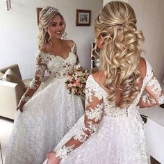 Vários vestidos de noiva modelo princesa - clique na imagem e confira! #vestidodenoiva #noiva