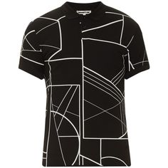 e2da62aed30ac McQ Alexander Mcqueen Linear-print cotton polo shirt ( 161) ❤ liked on  Polyvore featuring men s fashion