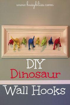 diy dinosaur wall hooks