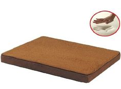 Sudan Brown Gusset Style 41X27'X4' Orthopedic Waterproof Memory Foam Pet Bed Pad for Medium Large dog crate size 42'X28' with 2 external cover * Read more reviews of the product by visiting the link on the image.