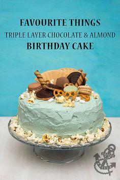 Favourite Things Triple Layer Chocolate and Almond Birthday Cake