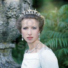 Princess Anne, festoon tiara, grounds of Gatcombe Park