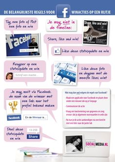 Wat mag wel en niet met winacties op Facebook? Handige #infographic