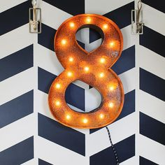 24 8 Eight Number Marquee Light From The Rusty