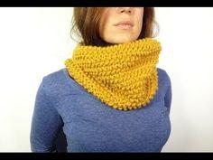 MM Cómo tejer en telar un cuello de lana en punto de arroz (Tutorial DIY) - YouTube