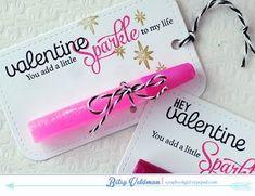 Valentines Day lip gloss treats
