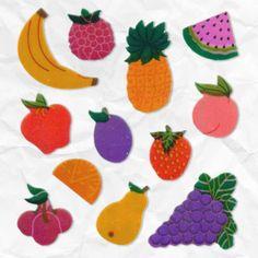 ¿Dónde pegabas los stickers con olor a frutas?