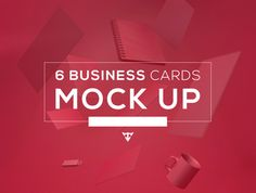 Free dowmload - 6 Business Card Mockups