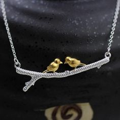 New 925 Sterling Silver Bird Necklaces & Pendants Pure Sterling Silver Choker Necklace Jewelry Collar 925 Sterling Silver Bird Necklaces & Pendants Choker