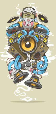 DJinn by Zsolt Varga, via Behance. #music #artwork #musicart www.pinterest.com/TheHitman14/music-art-%2B/