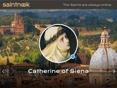 St Catherine of Siena http://www.saintnook.com/catherineofsiena/ | Background Cover CC Richard Scott