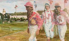Walt Spitzmiller - Florida Paddock 17 x 28 Oil on canvas Golf Art, Oil On Canvas, Artsy, Florida, Caricatures, Gallery, Artwork, Portraits, Painting