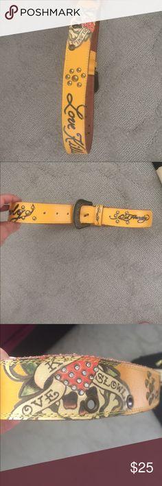Ed Hardy belt Ed Hardy Love Kills Slowly yellow belt Ed Hardy Other