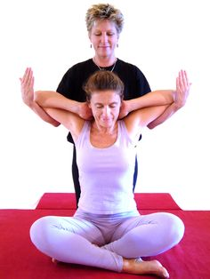 Double Pec Stretch - opens pecs, front of the chest; improves breathing and posture