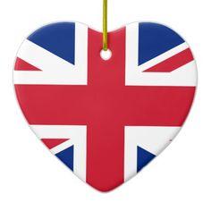 "Good color UK United Kingdom flag ""Union Jack"" Ceramic Ornament - good gifts special unique customize style"
