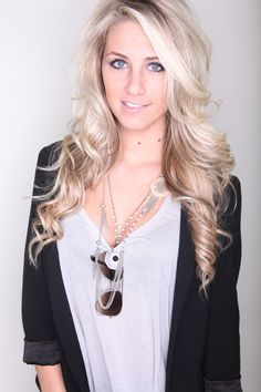 Beautiful Long Blonde Hairstyle for Homecoming and Prom - Homecoming Hairstyles 2013