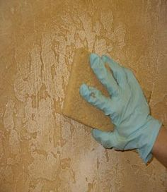 Old world technique on textured wall