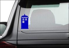 Doctor Who Tardis Vinyl Decal Sticker 50 x 25 by HempandVinyl, $4.00
