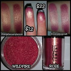 NEW MAKEUP GEEK DUOCHROMES!! DUPE 3: MAC ROSE PIGMENT vs WILDFIRE