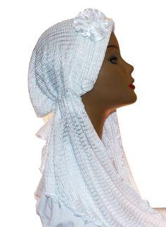 Lycra Spanish Hijab Turban NEW Stretch Crinkle Flower Satin in Middle East | eBay