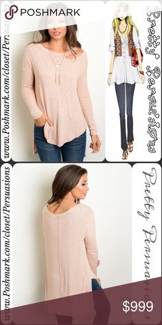 """SALE💜 NWT Cut Out Shoulder Ribbed Slouchy Top NWT Cut Out High-Low Ribbed Long Sleeve Slouchy Top  Available in S, M, L Measurements taken from a small  Length: 31"""" Bust: 40"""" Waist: 40""""  Features  • cut out detail at neckline on left side • high-low hemline • super soft, breathable material w/stretch • long sleeves  Bundle discounts available  No pp or trades  Item # 1/1-7220300PLST marled knit Pretty Persuasions Tops"""