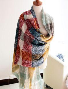 Morpheus Boutique  - Color Block Plaid Christmas Warm Long Scarf Wrap Shawl, CA$47.17 (http://www.morpheusboutique.com/holiday-gift/color-block-plaid-christmas-warm-long-scarf-wrap-shawl/)