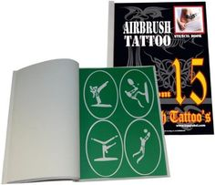 Self-Adhesive Reusable Temporary Tattoo Booklet#15 with 102 Stencils by Master Airbrush. $19.96. Just stick the stencil on the cleaned skin, then spray.. This Self-Adhesive Stencil Booklet #15 contains 4 to 6 Different Unique Tattoo Design Patterns on each of the Sheets.. Include self-adhesive so that you do not need to hold the stencil in your hand while spraying.. Stencils are made of durable and reusable material.. Self-Adhesive Reusable Temporary Tattoo Bookle...