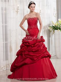 eb99203bd66 A-Line Princess Strapless Sweetheart Long   Floor-Length Taffeta Quinceanera  Dress front back