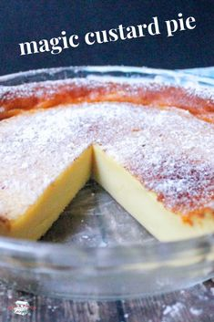 My mom used to make this yummy custard. The flour settles to the bottom and creates its own crust. Easy and very good! My mom used to make this yummy custard. The flour settles to the bottom and creates its own crust. Easy and very good! Mini Desserts, Sweet Desserts, Easy Desserts, Delicious Desserts, Filipino Desserts, Custard Recipes, Pie Recipes, Sweet Recipes, Baked Custard Recipe