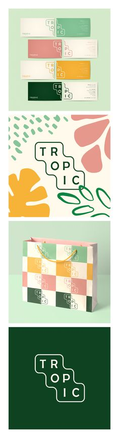 Lucy& Logos – Tropic Logo Design & Branding – Skin Care – All Natural – Business Card Design – Shopping Bag Design – Visit the link to see more designs & contact for freelance - Logo Branding, Logos, Typography Poster, Typography Layout, Branding Ideas, Corporate Identity Design, Visual Identity, Brand Identity, Blog Logo