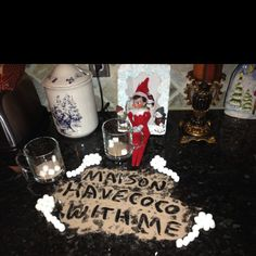 Elf on a Shelf - Antic: Cocoa message