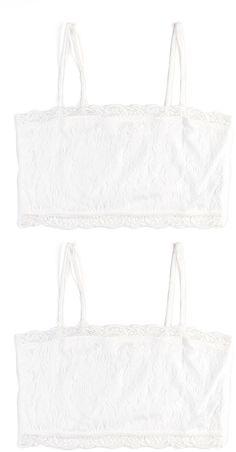 479eccbb3873d3 White Lace Wireless Cami Bra Set - Plus Too