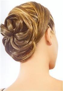 DIY Wedding Hair : DIY Swirling Flower Updo