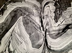 This is a monoprint based on geological strata - one of a series of prints.