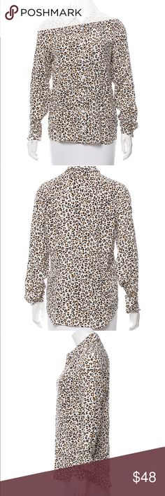 Equipment Leopard Silk Blouse Beautiful Equipment Silk Blouse.  In excellent condition.  Only worn once.  Size S. Equipment Tops Button Down Shirts