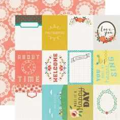 Echo Park - Simple Life Collection - 12 x 12 Double Sided Paper - Happy Day at Scrapbook.com