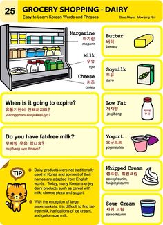 25. Grocery Shopping - Diary An Illustrated Guide to Korean by  Chad Meyer and Moon-Jung Kim