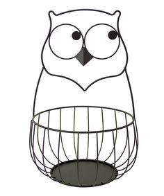 Loving this Boston Warehouse Owl Metal Basket on Owl Kitchen Decor, Owl Home Decor, Quirky Kitchen, Kitchen Baskets, Kitchen Themes, Kitchen Ideas, Cow Kitchen, Owl Basket, Owl Crafts